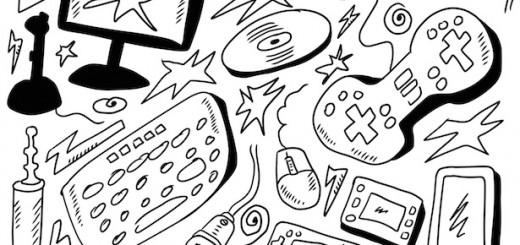 doodles set computers games