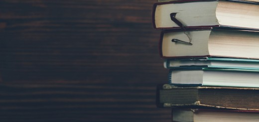 Stack of books horizontal