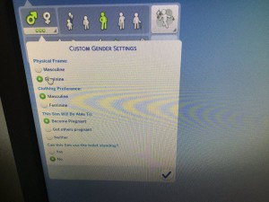 A screen capture posted by twitter user @RestingPhoenix showing the update in Sims 4