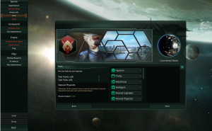 Character/alien species customization menu. Stellaris.